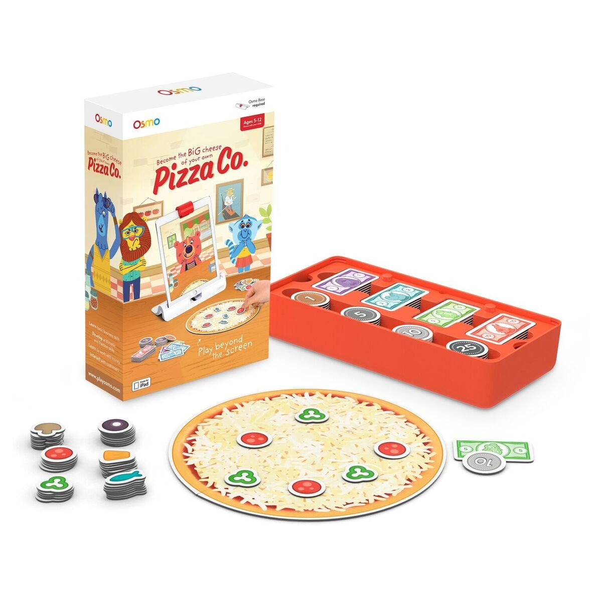 Osmo - Pizza Co. Game - Ages 5-12 - Communication Skills & Mental Math - For iPad and Fire Tablet (Osmo Base Required) by Osmo