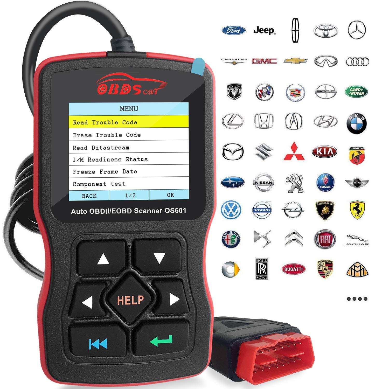 OBDScar OS601 EOBD OBD2 Scanner Automotive Engine Fault Code Reader CAN Diagnostic Scan Tool (2018 Model)