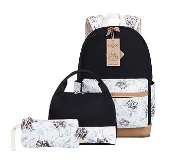 Amazon.com: ulgoo Casual escuela mochilas adolescentes Set ...