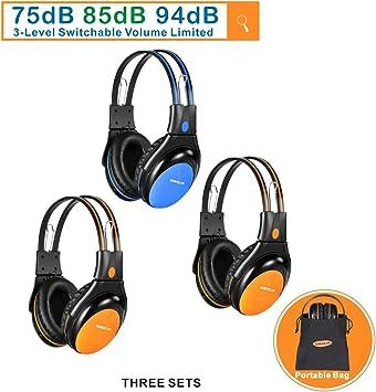 Auriculares infrarrojos ir inalambrico universal 2 canal estéreo auto monitor transmisor