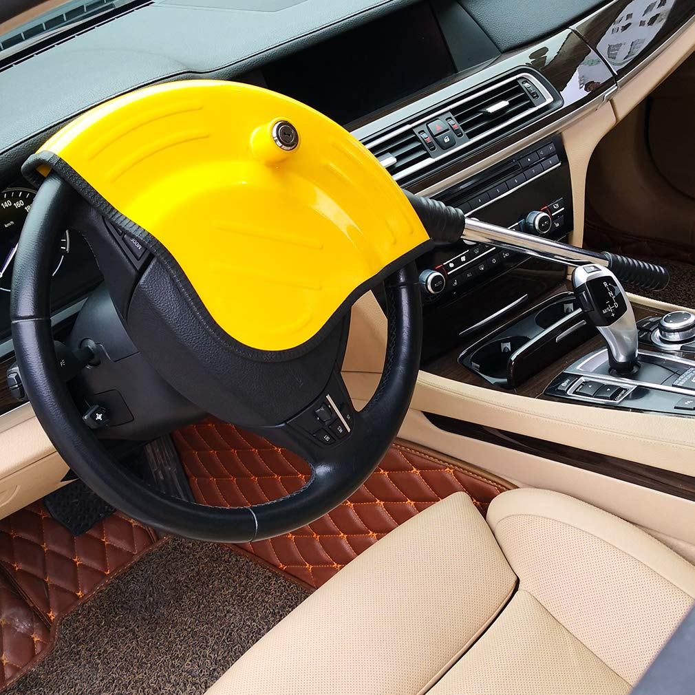 Oklead Universal Car Steering Wheel Lock - Full Cover Airbag Anti Theft Locking Device For Car Suv Pickup With 2 Keys by Oklead (Image #8)