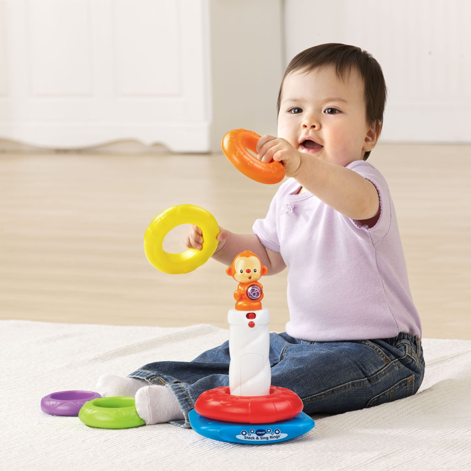 Amazon VTech Stack and Sing Rings Toys & Games