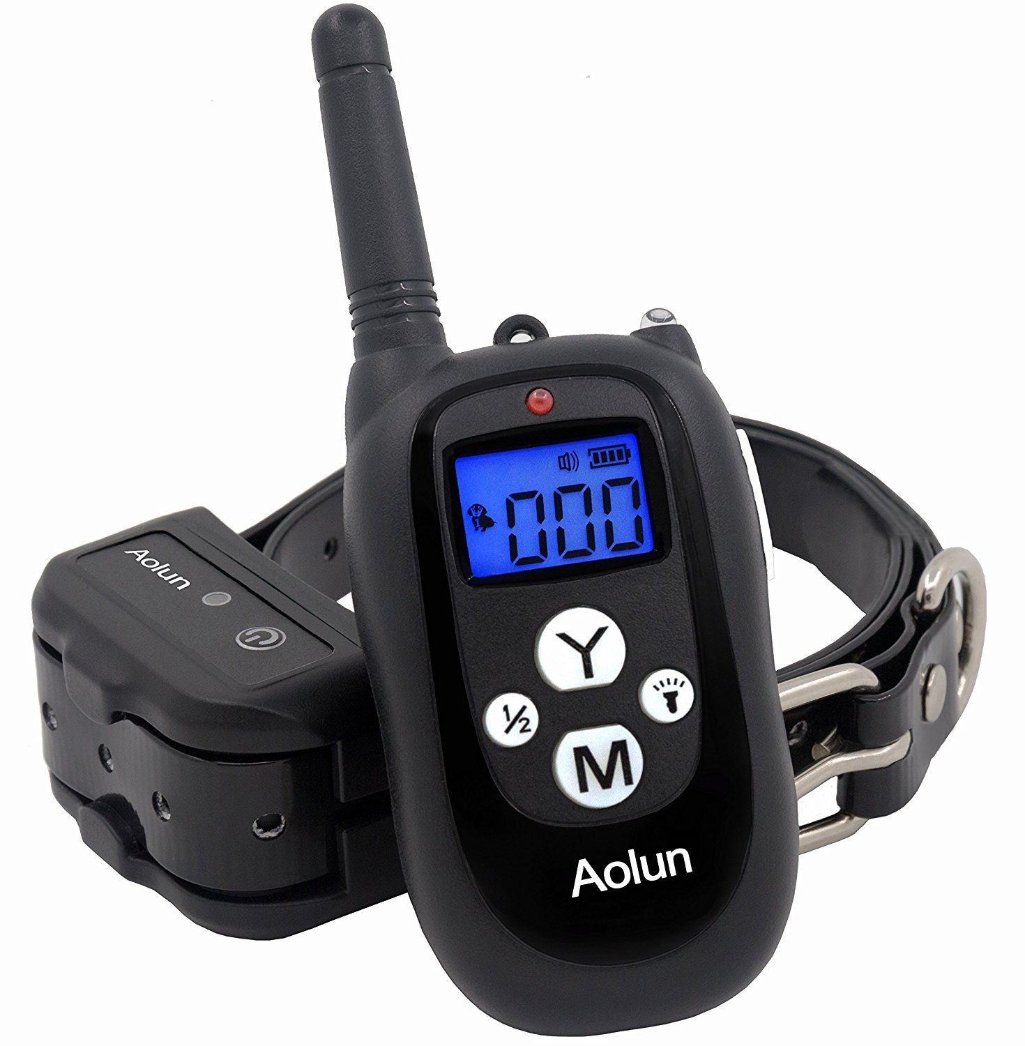 Shock Collar for Dogs,Dog Training Collar with Remote,LCD Display, 1000 Ft, Rechargeable, Waterproof Electric No Bark Dog Collar with Beep/Vibration/Shock - Great for Dogs
