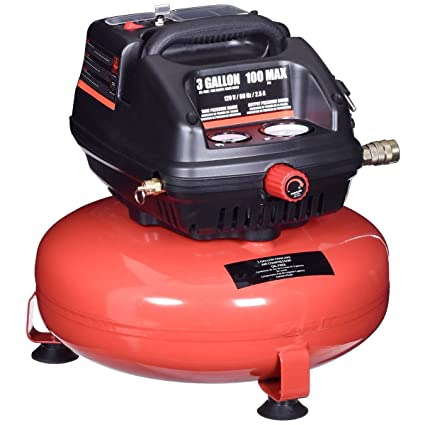 Cypressshop Portable Pancake Air Compressor 3 Gallon Oil Free 100 PSI Motor 0.5 HP Motor Lightweight