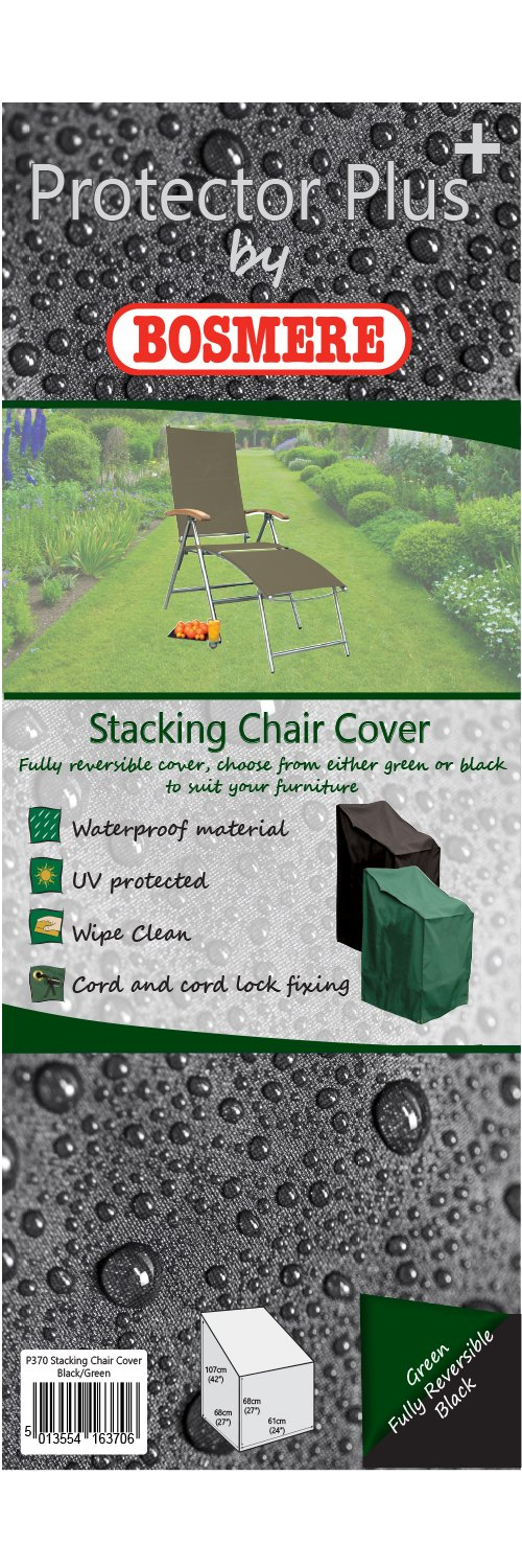 Bosmere D570 STORM BLACK Stacking/Reclining Chair Cover Bosmere Products Ltd