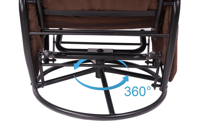Amazoncom Merax Home Furniture Ergonomic Suede Fabric Swivel Glider Recliner Rocking Chair And Ottoman Set Glider Rocker Chocolate Baby