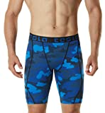 TSLA TM-MUS17-MBL_Small Men's Compression Shorts