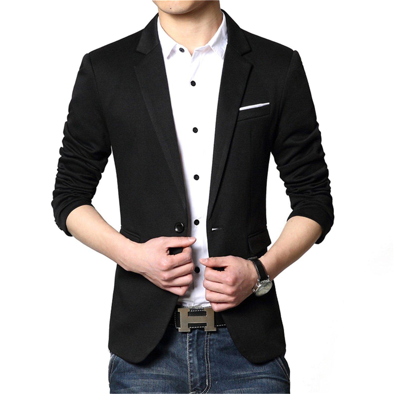 eb3269deaf2 Thadensama New Fashion Casual Men Blazer Cotton Slim Korea Style Suit  Blazer Masculino Male Suits Jacket Blazers Men M-6Xl Light Gray Xxxl at  Amazon Men s ...