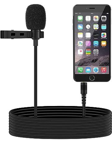 Tonor Micrófono de Solapa 3.5mm Estéreo Omnidirectional Condensador para Smartphone, Micrófono Mini Mic para
