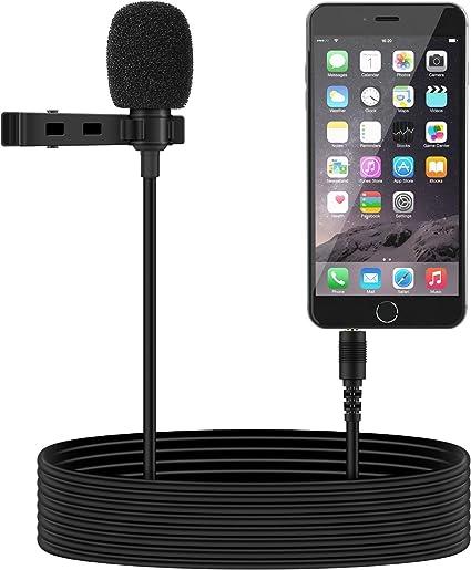 Tonor Mini micrófono omnidireccional, condensador, de solapa ...