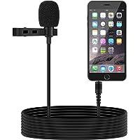 Tonor 3.5mm Audio Jack Microphone à Condensateur Omnidirectionnel Cravate Revers Tie Clip On Mini Mic pour Téléphone, Android, Iphone, Ipad