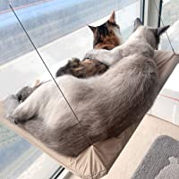 Sturdy Durable Heavy Duty Suction Cups Cat Bed Holds up to 30lbs Easy to Assemble Safety Cat Hammock Window Seat Space Saving Cat Hammock Window Mounted Cuby Cat Window Perch for 360/°Sunbath