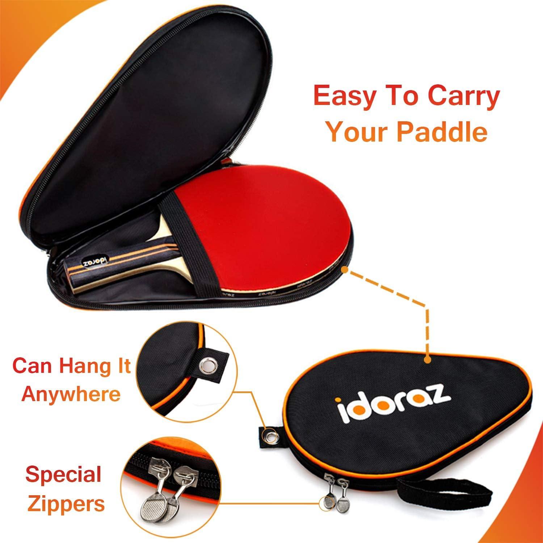 Amazon.com: Idoraz - Raqueta de ping pong profesional con ...