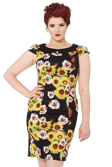 b39c6d7eb5 VOODOO VIXEN Nahla Sunflower Wiggle Dress  Amazon.co.uk  Clothing