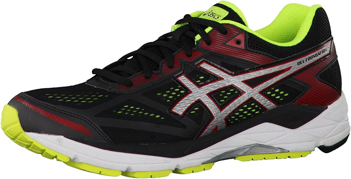 Asics - Gel-Foundation 12 (2e) - Zapatillas Running de Estabilidad - Black/Silver/Safety Yellow: Amazon.es: Zapatos y complementos