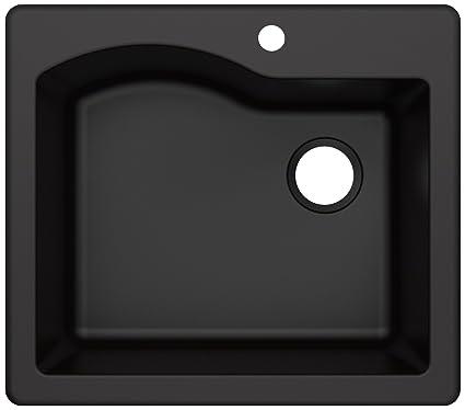 Kraus Kgd 441black Quarza Granite Kitchen Sink 25 Inch Black