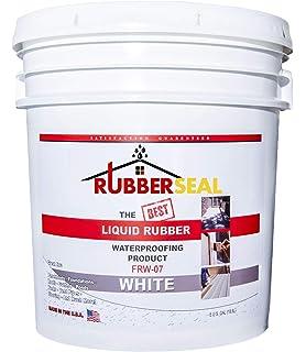 Liquid Rubber Color Waterproof Sealant Indoor Outdoor Coating Easy To Apply Water Based Beige 5 Gallon Amazon Com