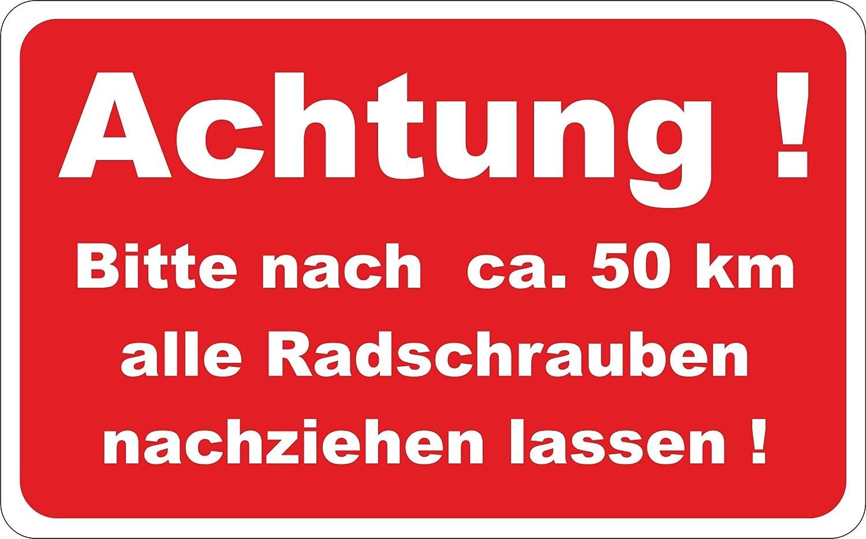 wodtke-werbetechnik Aufkleber Radschrauben nachziehen 150 St/ück