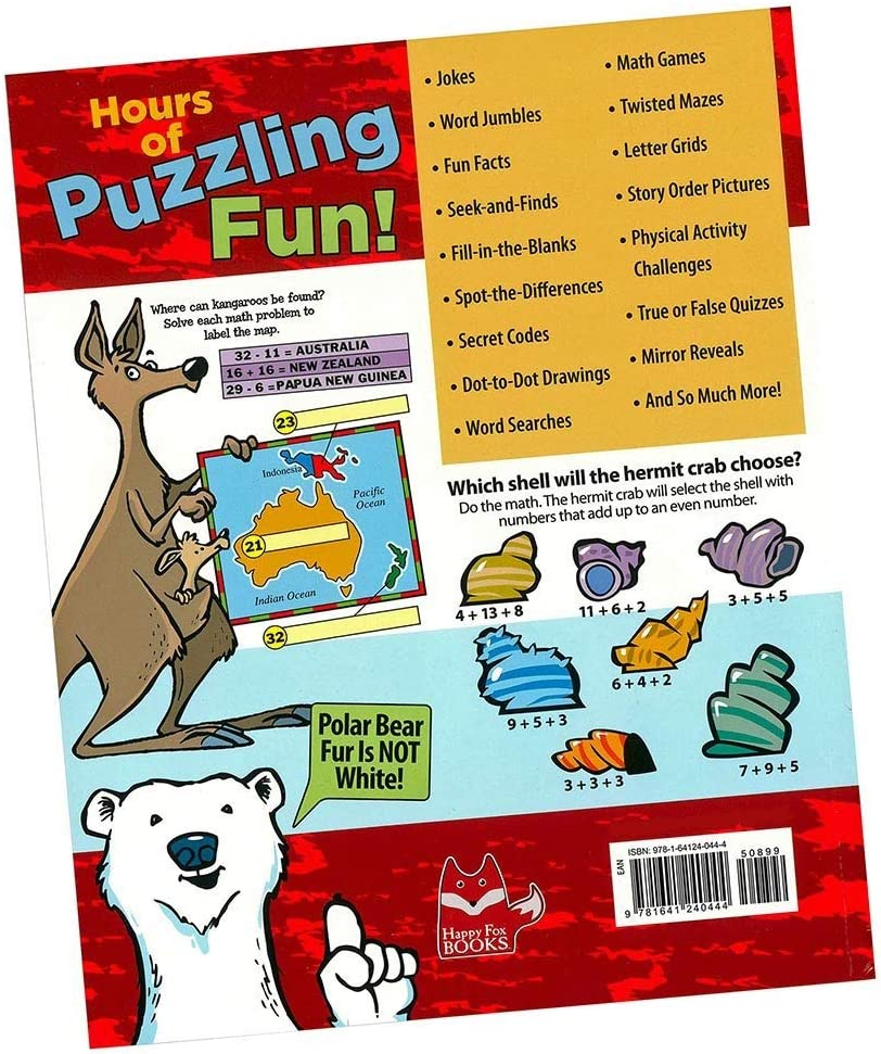 Games and More Secret Codes Help Kids 5-10 Learn About Animals Mind-Boggling Animal Puzzles and Brain Teasers Book Mazes A Treasury of Fun and Exciting Activities