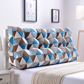 qiangzi respaldo almohada doble noche triángulo cojines almohada cabeza almohada cintura almohada sofá tapizado respaldo cama