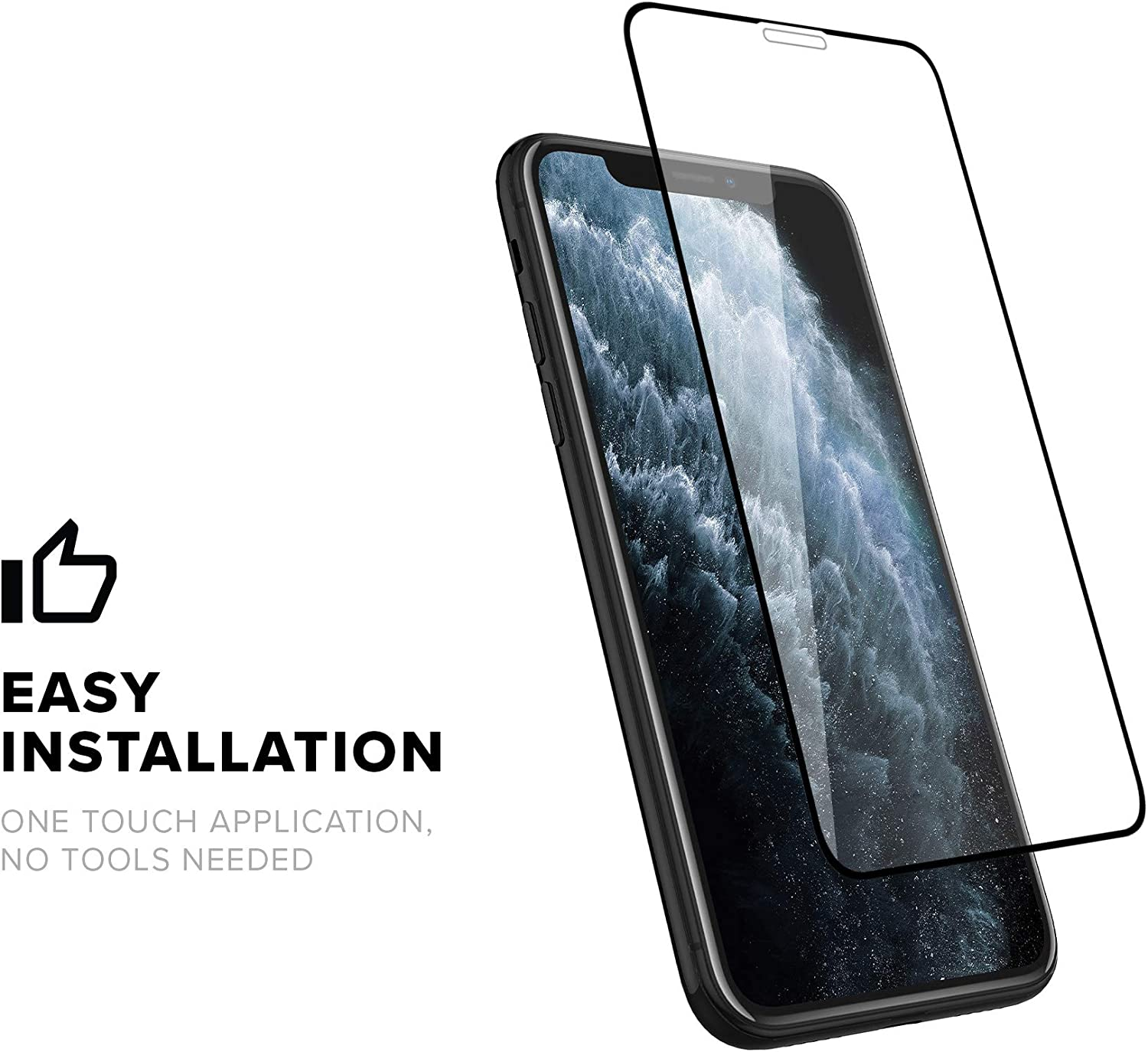 Zizo Full Glue Glass Compatible with iPhone XR//iPhone 11 Tempered Glass Screen Protector 0.33mm 9H Hardness
