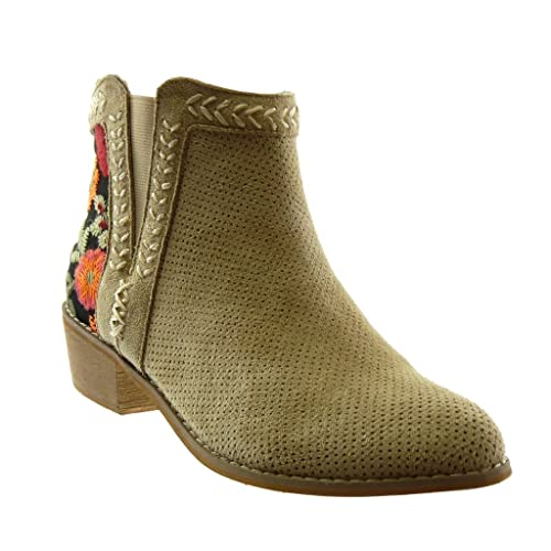 Zapatos blancos de punta redonda Angkorly para mujer mQ4j22Yc