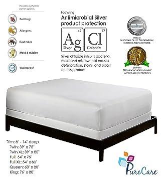 Amazon Com Purecare Premium Mattress Protector Bed Bug Proof