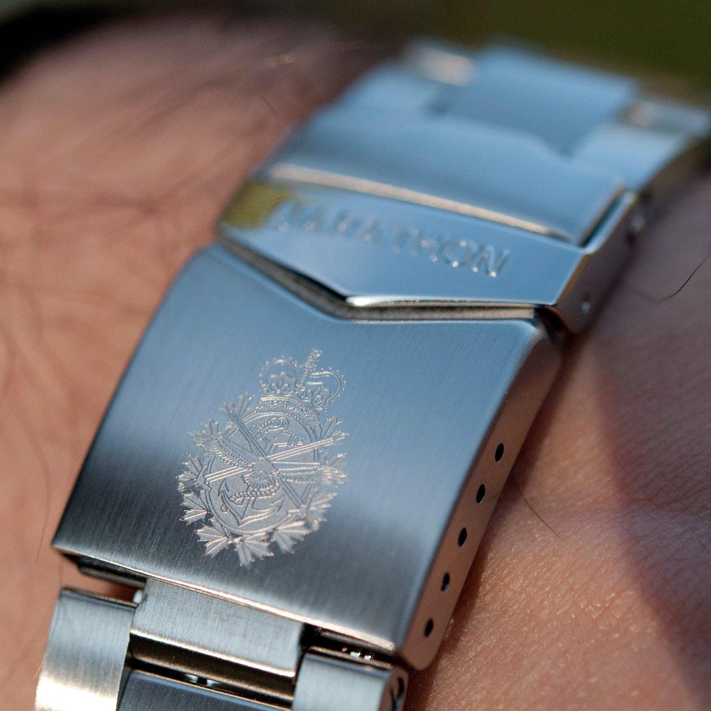 Maratonklocka militär kvalitet armband i rostfritt stål (finns i 18 mm / 20 mm / 22 mm) Dept. of Defense
