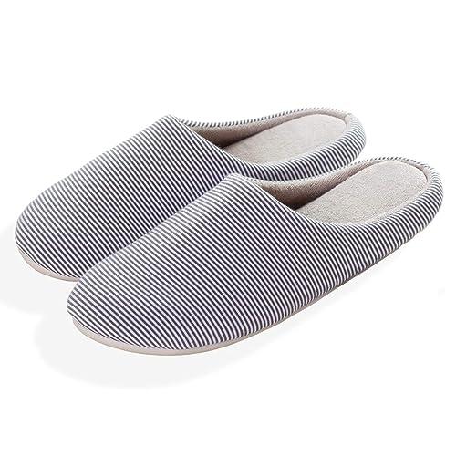 35ddf0ef5 kealux Men s Winter Slippers Cozy Memory Foam House Shoes Indoor Slippers  Slip-on Cotton Shoes