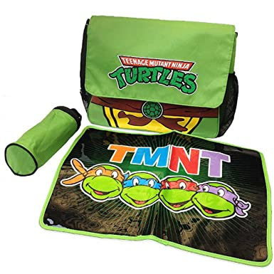 TMNT tortugas Ninja Messenger bolsa de pañales Set: Amazon ...