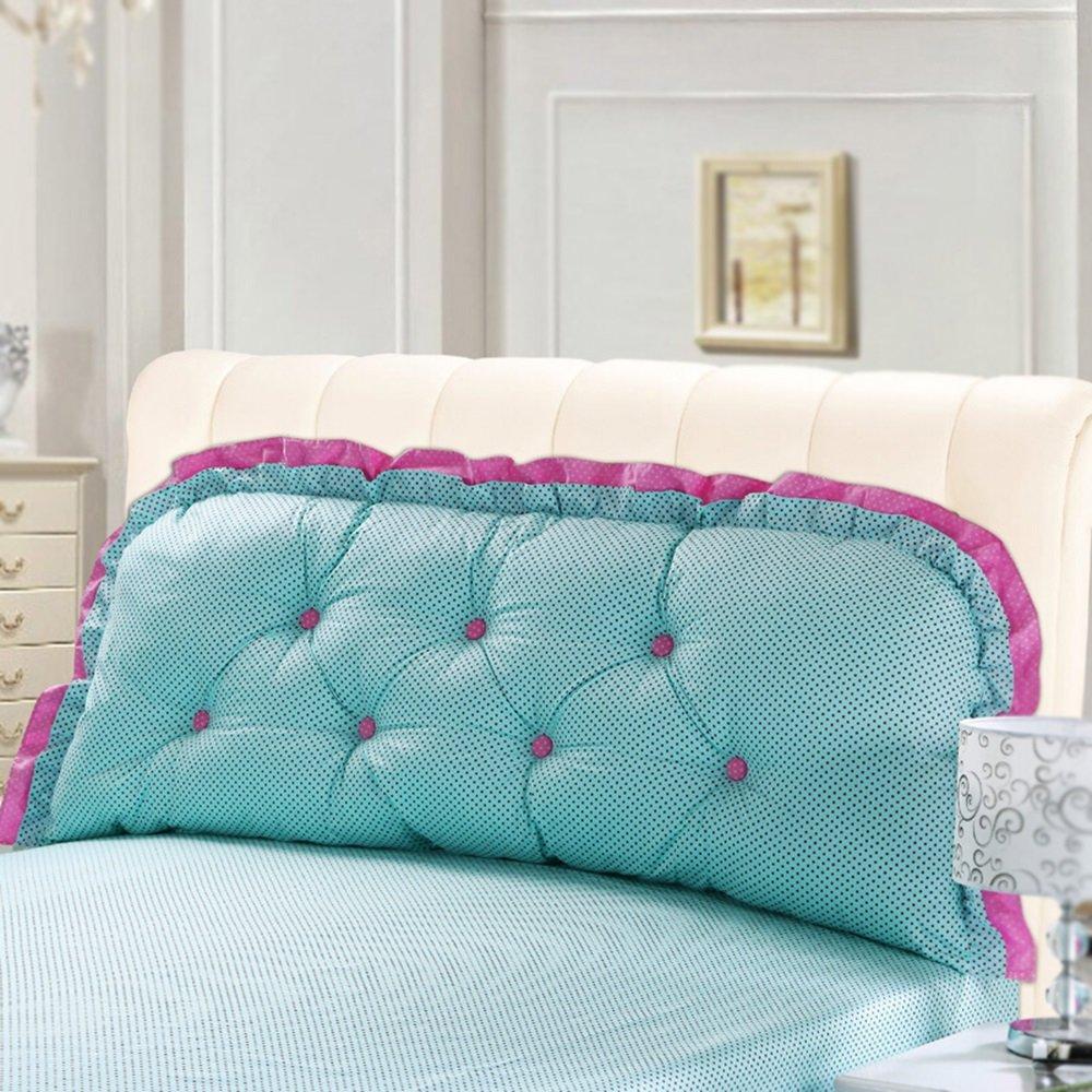 Bedside Cushion / Double Pillow / Geometric Bed Cushion / Cotton Washable / Large Backrest / Sofa Pillow ( Color : A , Size : 12060cm )