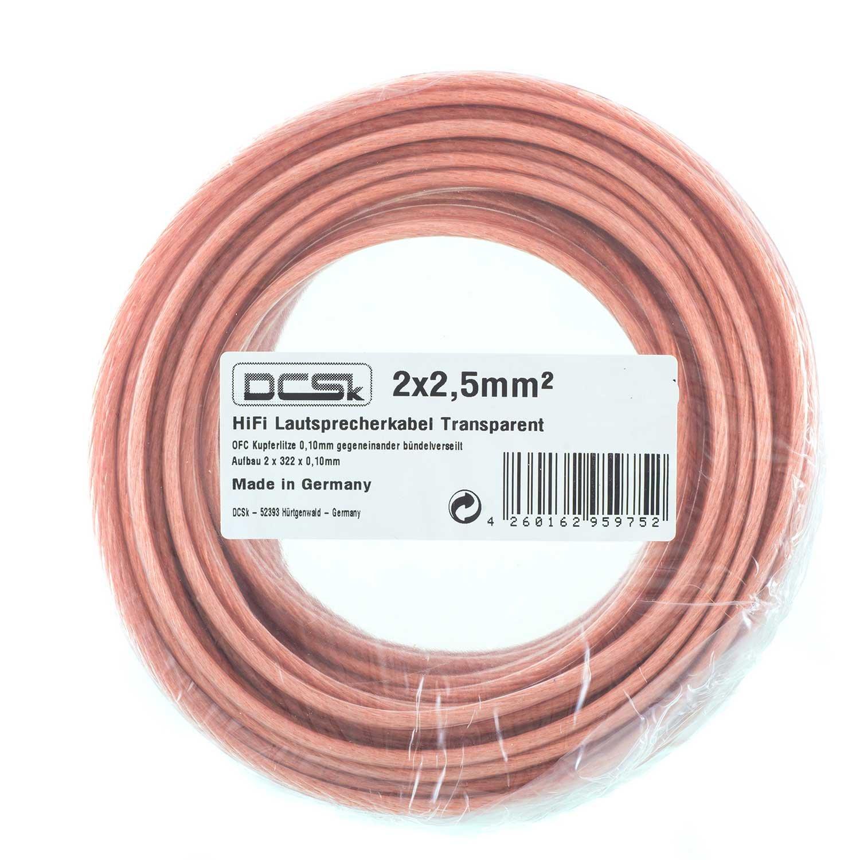 DCSk 15m - 2x2,5mm² Kupfer Lautsprecherkabel Ring: Amazon.de ...