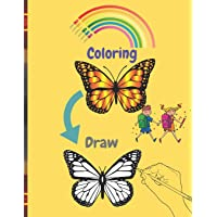 coloring Draw: 50 Coloring Pages and Practice Painting !! -Easy, big, giant, simple pictures for toddlers, 2-8 year olds…