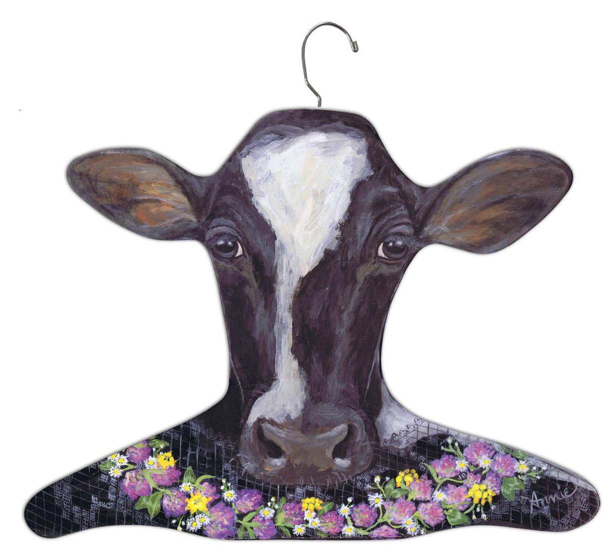 Stupell Home Décor Clothing Hanger, Holstein Cow Hanger, 17 x 0.4 x 11, Proudly Made in USA
