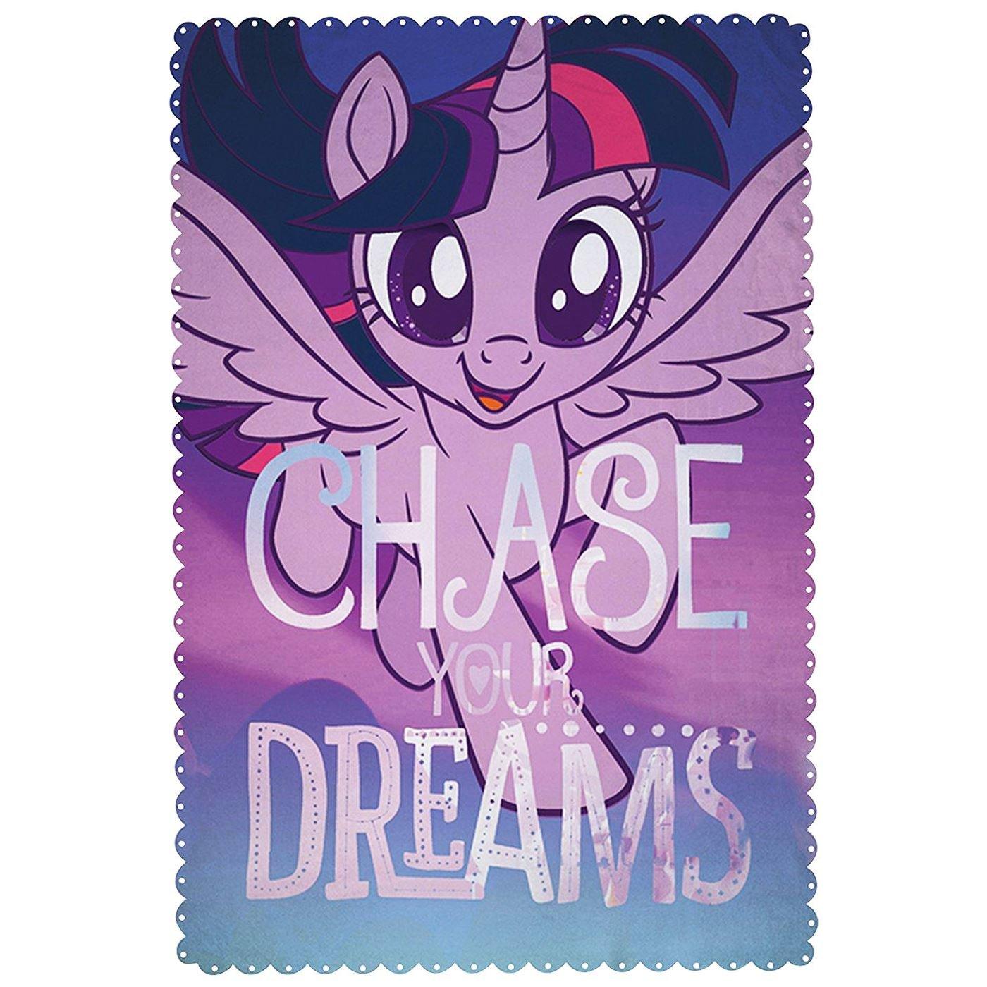 My Little Pony Movie 'Adventure' Fleece Blanket - Large Print Design Character World MLMADVFL002UK