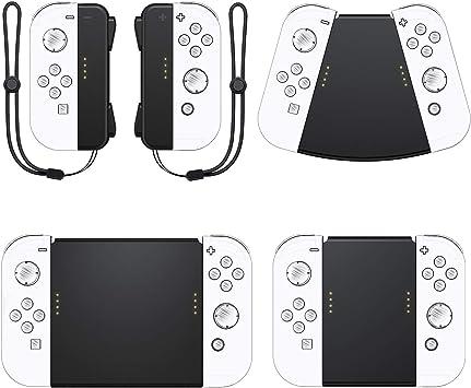 Vivefox Nintendo Switch Joy con Asas, 5 en 1, Conector de Mangos para Nintendo Switch Joy Cons Gamepad con Correa de muñeca, Kit de manija para Mando a Distancia: Amazon.es: Electrónica