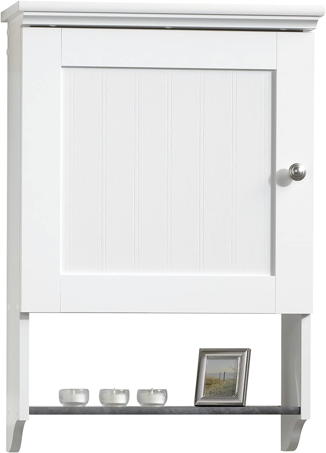 Sauder Woodworking Caraway Wall Cabinet, Soft White finish