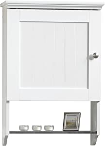 "Sauder Caraway Wall Cabinet, L: 19.92"" x W: 7.48"" x H: 28.74"", Soft White"