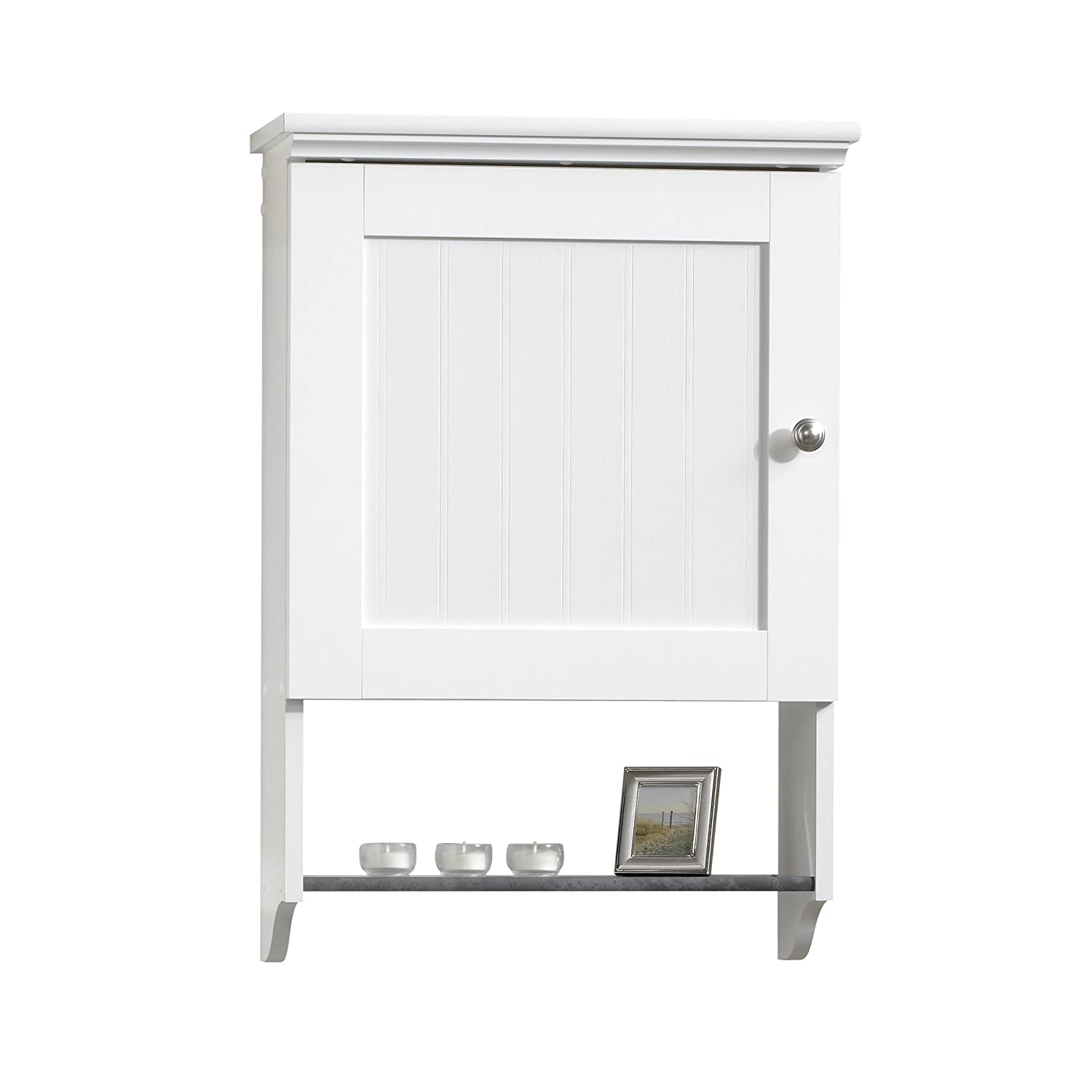 Sauder Wall Cabinet, Soft White Finish 414061