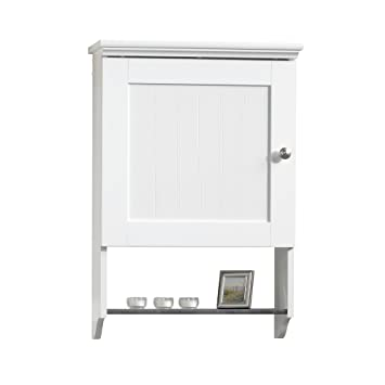 Amazon.com: Sauder Wall Cabinet, Soft White Finish: Kitchen & Dining