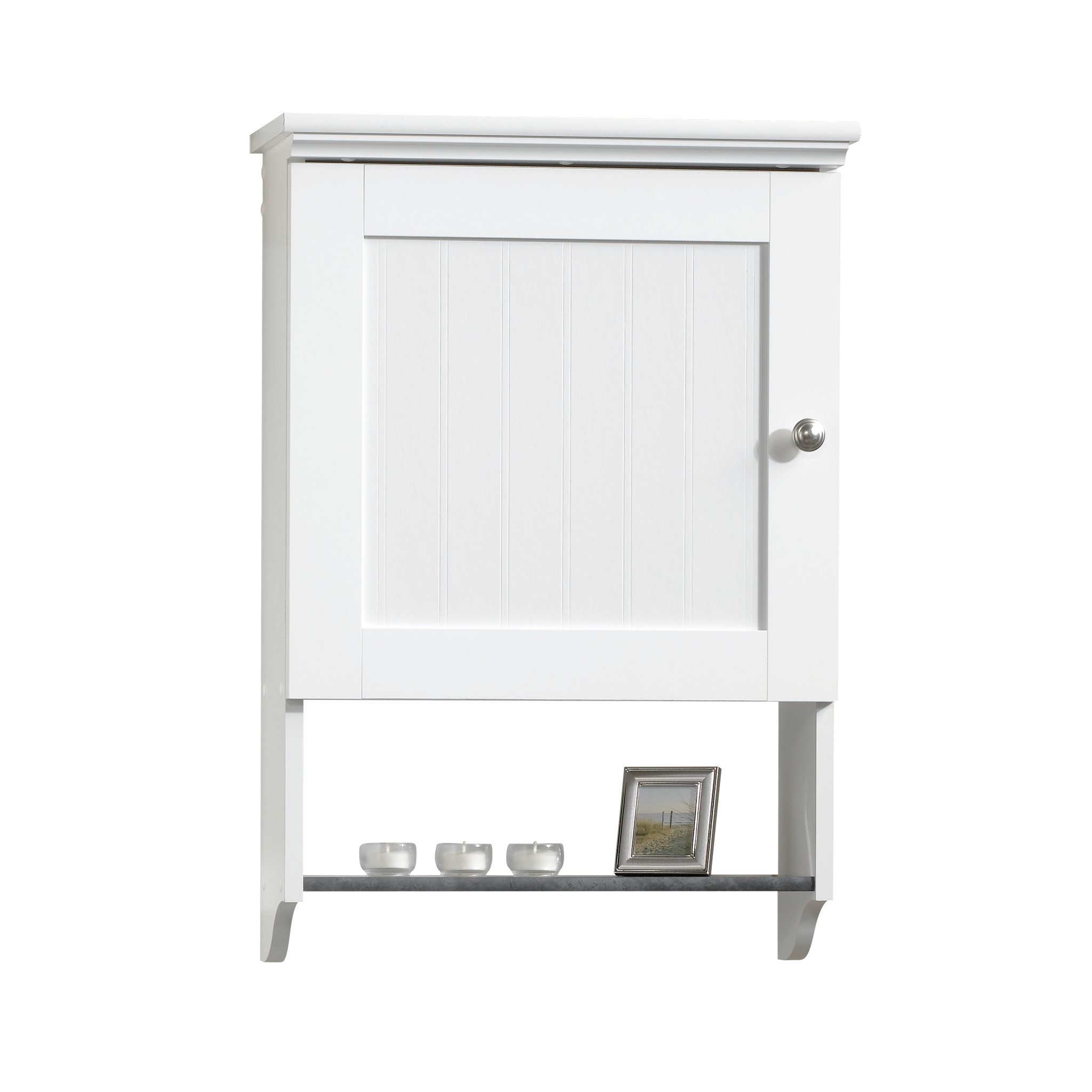 Sauder Wall Cabinet, Soft White Finish