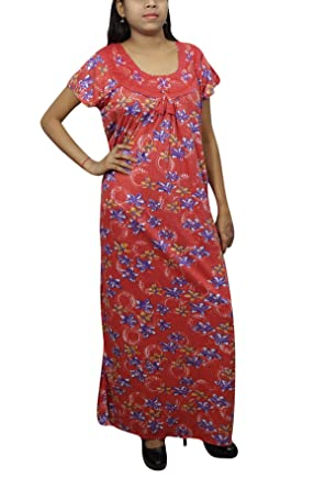 Indiatrendzs Women Loose Maxi Dress Hosiery Long Printed Nightgown XL   Amazon.in  Clothing   Accessories 963e45179