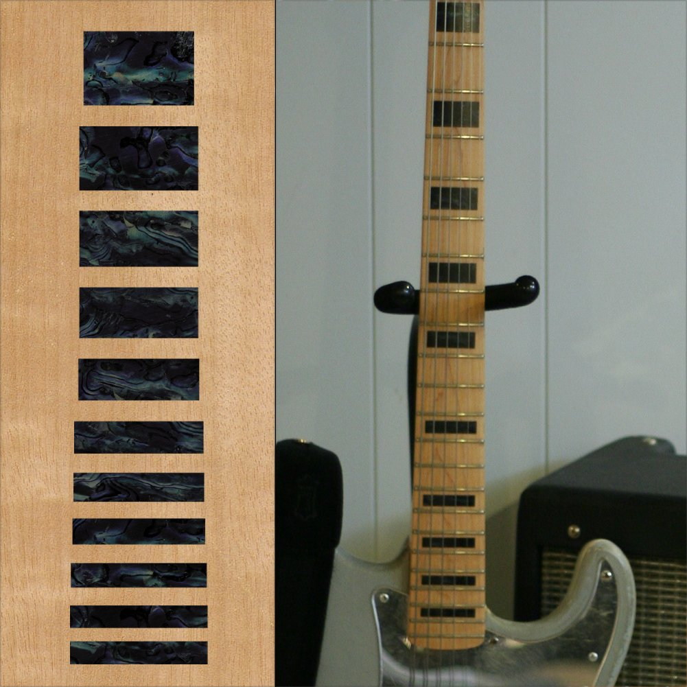 Fretboard Markers Inlay Sticker Decals for Bass - Jazz Bass Block - BP