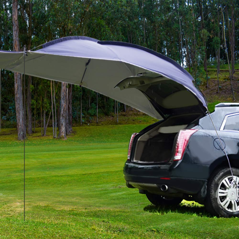 Schutz vor Sonne und Regen,350 x 240 x105cm WISAMIC Campingbus Sonnensegel Auto Vorzelt Busvorzelt Sonnendach Campingbedarf Standard f/ür SUV MPV Minivan Limousine Outdoor,Wohnwagen Hatchback