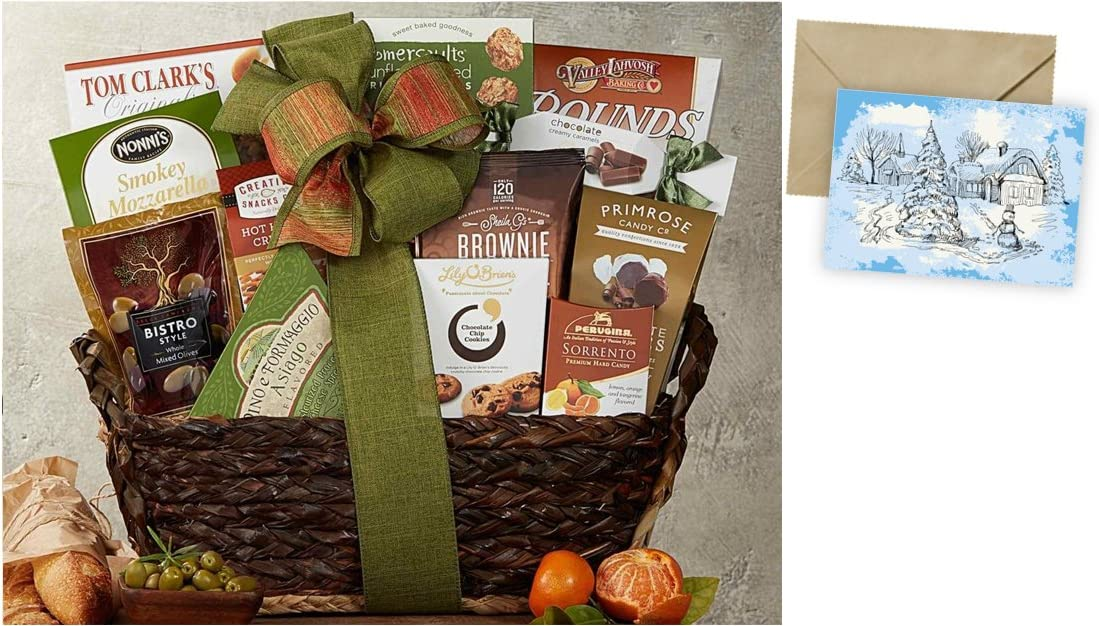 Gourmet Choice Gift Basket for Christmas and personalized card mailed seperately CD3236799