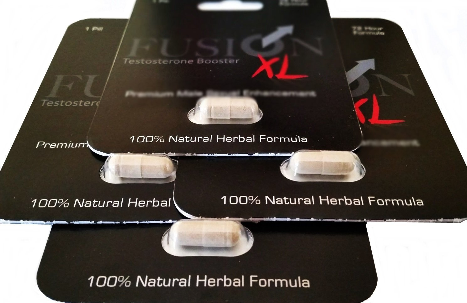 Fusion XL All Natural Herbal Male Performance and Testosterone Booster ( 4 Capsules )