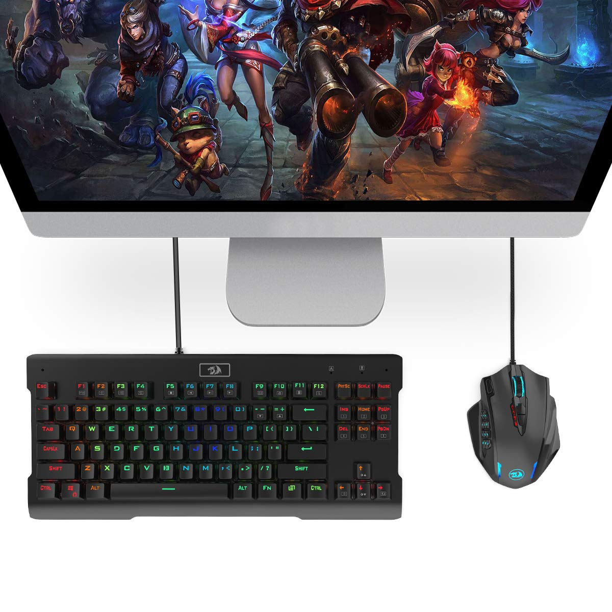 Redragon Impact RGB LED MMO Mouse with Side Buttons Laser Wired Gaming Mouse with 12,400DPI, High Precision, 19 Programmable Mouse Buttons by Redragon (Image #8)