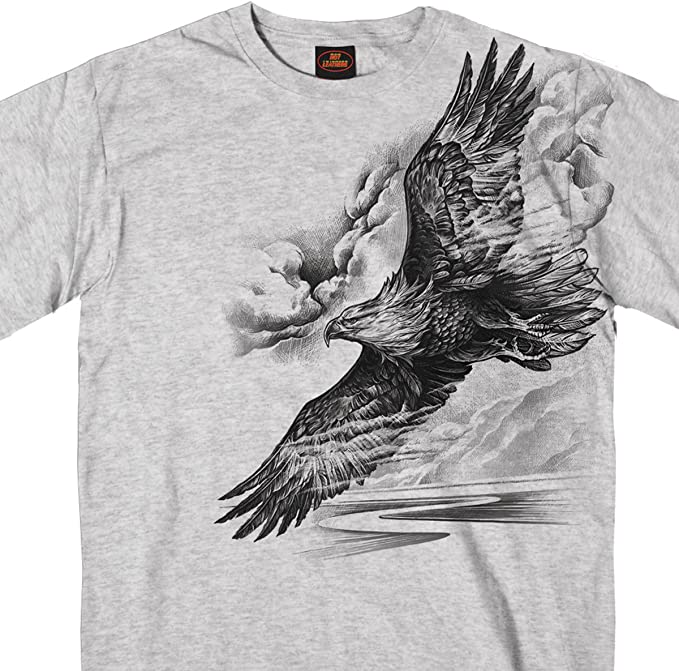 White, XXX-Large Hot Leathers Mens USA Eagle Long Sleeve Tee