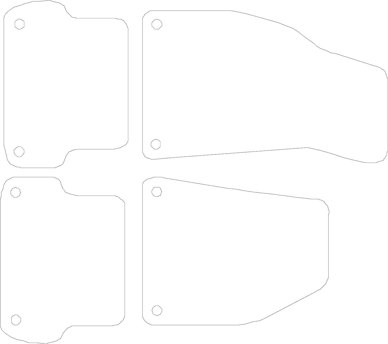 Deluxe Car Mat Set Connected Essentials CEM500 S4 B7 Black with Black Trim 2006-2008