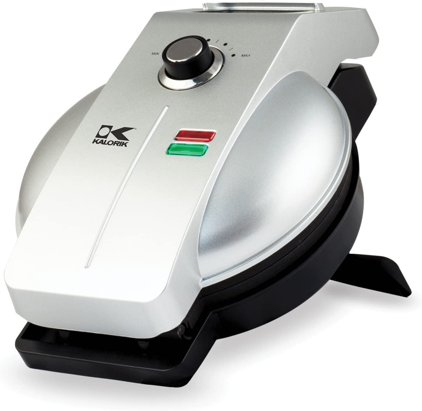 Kalorik Easy Pour Waffle Maker, WM 43981 SS, Mess & Stress Free GIA Award Winning Waffle Iron, Measuring Cup Included, Stainless